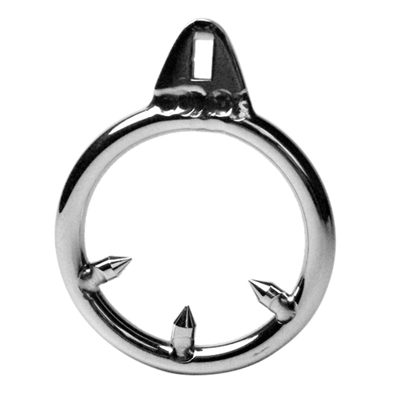 Dispositivo de Castidad masculino de 3 tamaños jaulas de pene anillo de pene adicional Acero inoxidable Anti erección anillo Anti-caída Zerosky