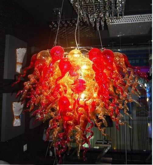 Lámparas colgantes coloridas contemporáneas CE/UL bombillas LED Hermosa mano vidrio soplado