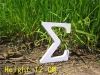 wedding nautical decoration 12cm pure white letter greek letter home decoration birthday gift artificial wood letters