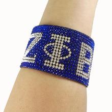 Aangepaste Zeta Phi Beta Logo Strass Armband Sieraden Rush Zus Gift