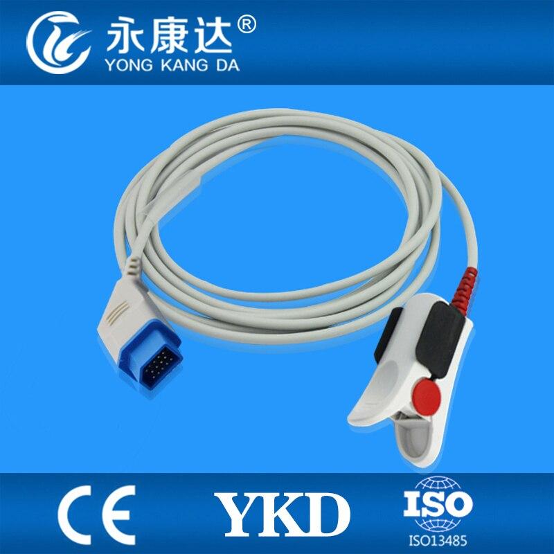 Nihon Kohden Adult Finger Clip sensor compatible with Nihon Kohden BSM-4113 Life scope P, 14pins