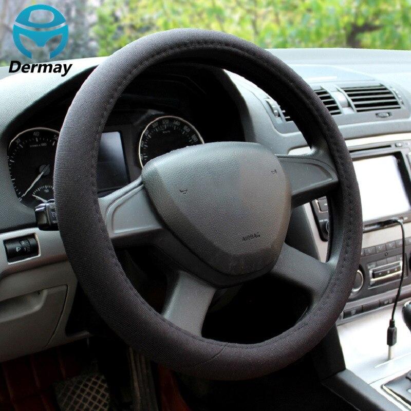 "New Flax Car Steering Wheel Cover 38CM Fit 14-15"" Wheel For Skoda VW Toyota Mazda Hyundai Nissan Peugeot  Kia Bmw etc."