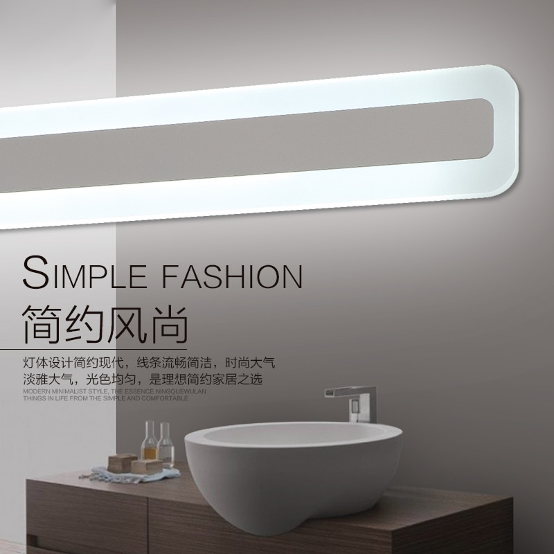 NEO Gleam Modern bathroom / toilet LED front mirror lights bathroom acrylic mirror lights Bedroom 0.4m-1.2m 8W-24W AC85-265V  - buy with discount