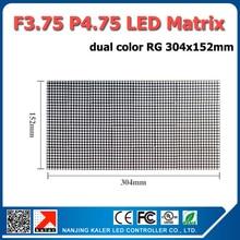 TEEHO 10 stücke Rote Farbe F3.75 P4.75 led-modul 304x152mm indoor LED fenster scrollen zeichen fließtext dot matrix led panel