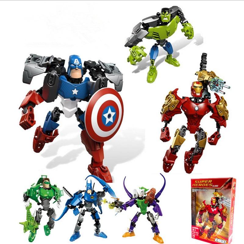 Marvel vingadores super kombination morph baustein modell super heróis batman hulk coringa ziegel spielzeug 2in1 brinquedos