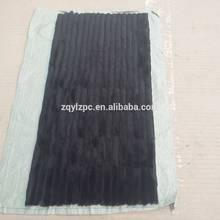 Couverture en fourrure queue de vison noire   Tapis en vrai fourrure de vison, plaque en fourrure de vison noir