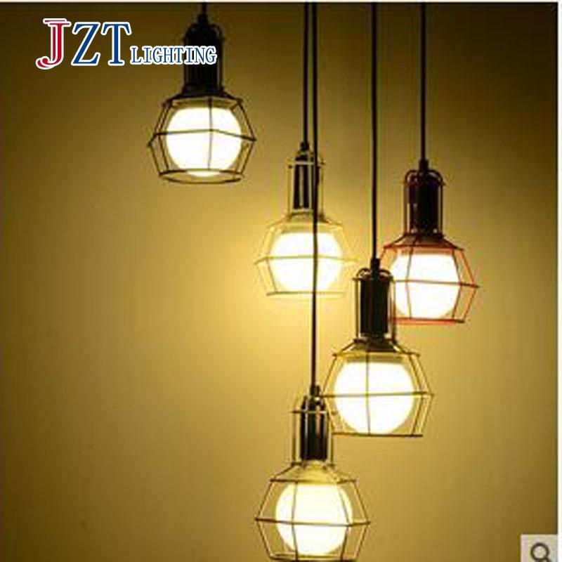 T altillo industrial estilo ahorro de energía luz LED muestra comedor lámpara creativa única luz 3W 5color