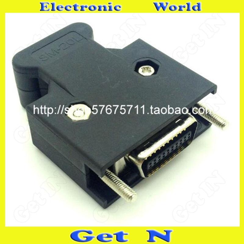 30 قطعة موصل SCSI CN20 ذكر البلاستيك نوع المسمار 20P ذكر التوصيل Weldin محول SCSI
