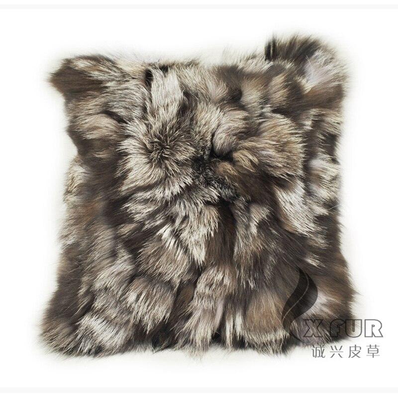 Envío Gratis CX-D-52 40X40CM de la fábrica de China de piel de zorro funda de cojín de sofá caso ~ envío de la gota