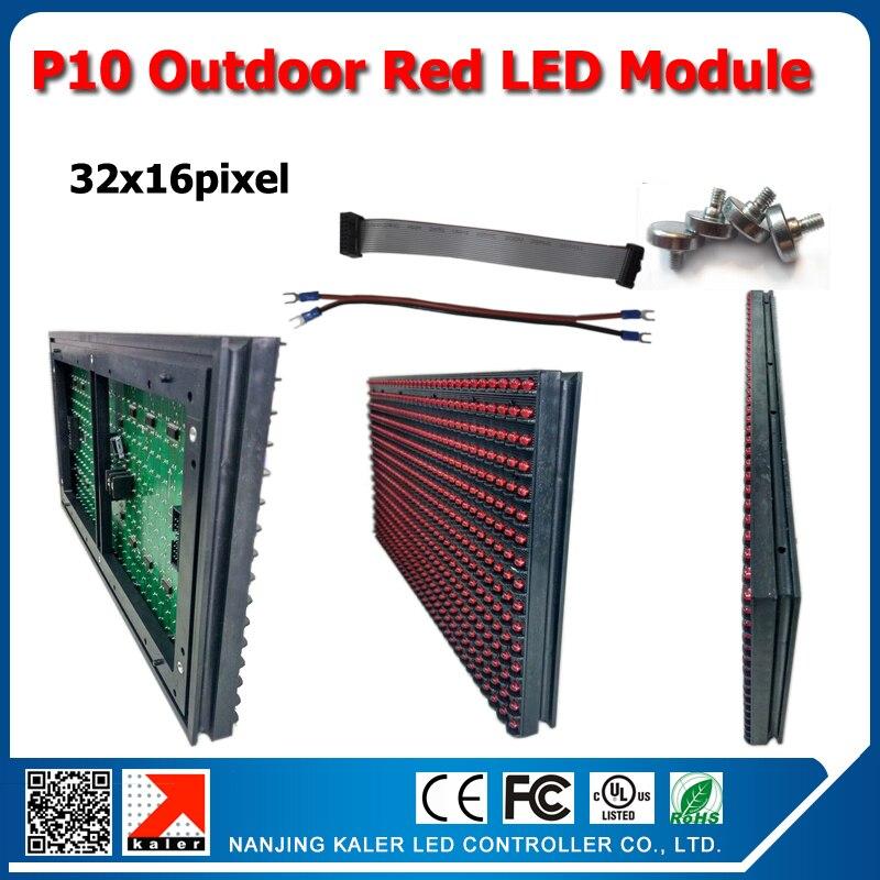 TEEHO al por mayor, módulo led rojo p10 para exteriores de fábrica China, 16x32 píxeles, 160x320mm DIP 346, módulo led p10 de color rojo, pantalla exterior