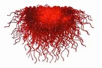 free shipping modern red flower chandelier hand blown murano glass for villa