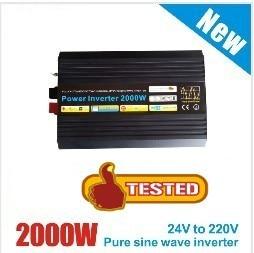 Pura Onda senoidal inversor 2000W inversor puro convertidor de Onda sinusoidal 60Vdc a AC 220V 230V 240V 2000 w/pico de 4000 vatios