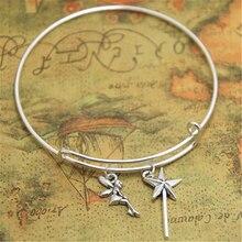 12 pièces/lot bracelet fée clochette breloque bracelets réglable bijoux fée clochette, breloque fantaisie, poussière de lutin