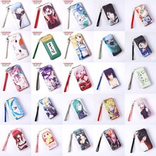 Anime Death Note Bleach Hoge School Lovelive Fairy Tail Datum Een Live Hatsune Miku Pu Lange Hand Purse Portemonnee Met rits