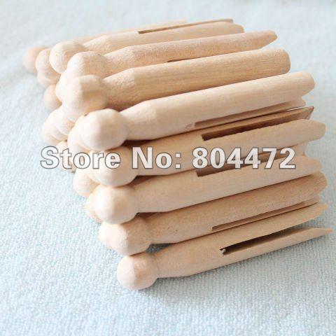 مشابك الغسيل الخشبية التقليدية ، أوتاد الملابس المصنوعة يدويًا ، ومشابك ورق الصور ، ومستلزمات تخزين الغسيل