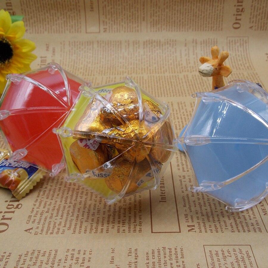 Caixa de presente de chá de bebê europeu caixa de presente de plástico bebê lua cheia caixa de doces personalidade criativa guarda-chuva caixas de doces