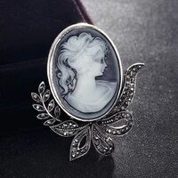donia jewelry female retro brooch jewelry fashion bride brooch gray beauty scarf bag accessories birthday gift