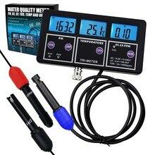 6 в 1 Профессиональный многопараметрический pH/ORP/EC/CF/TDS PPM/температурный комбинированный измерительный прибор, лучший в аквариуме, спа, лаборатории