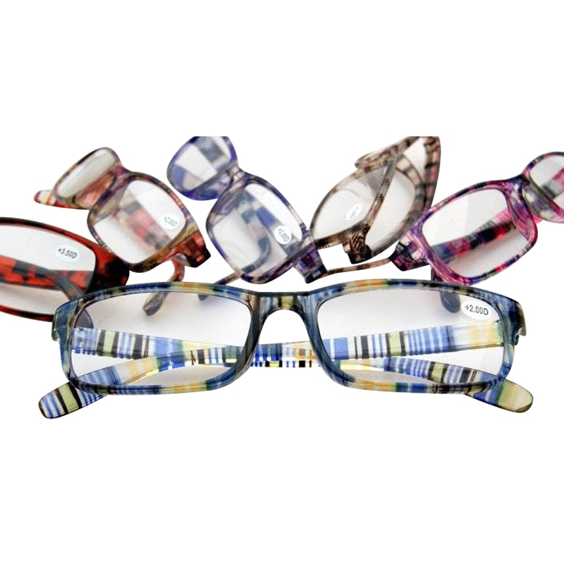 Eyesilove barato coloridas óculos de leitura para as mulheres homens ultra-leve óculos de leitura lentes de grau de + 1.00 a + 4.00