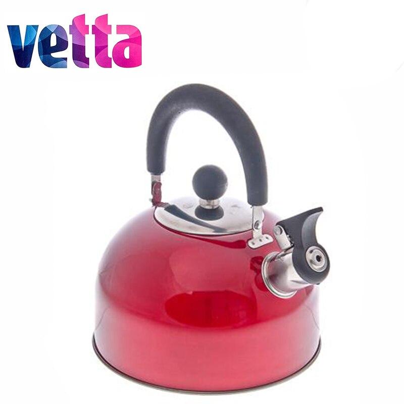 Acero 2,5 L rojo cocina tetera cantidad taza botella termo botella samovar cookware descuento venta horno electric847-002
