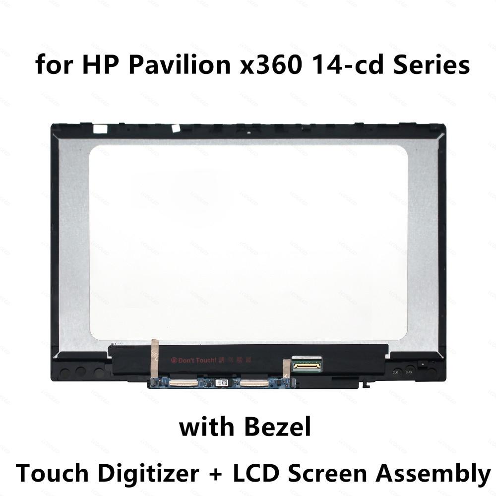 Display LCD Touch Screen Digitador Assembléia para HP x360 14-cd0202nz 14-cd0774nz 14-cd0705nz 14-cd0702nz 14-cd0402nz 14-cd0904nz