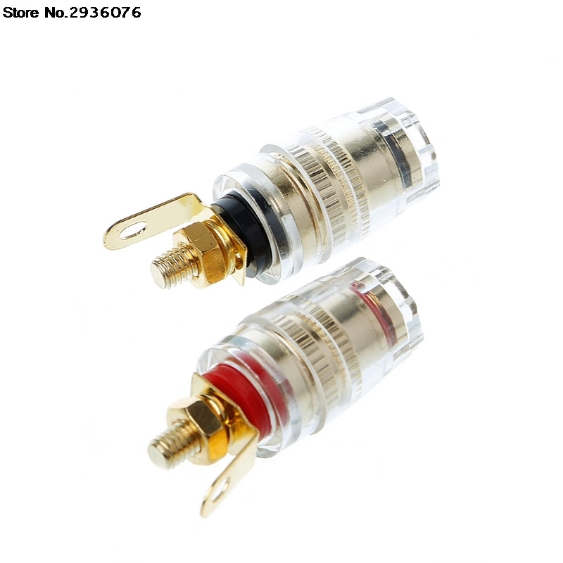OOTDTY 2 pcs 4 milímetros Binding Post Terminal Speaker Amplifier Speaker Banana Plug Conector do Soquete de Teste