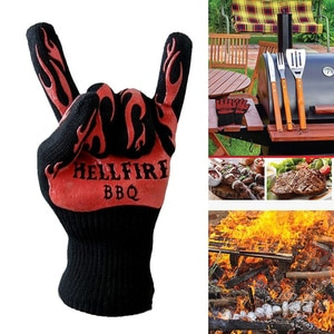 Heat Resistant Proof Cooking Oven Glove Hot Kitchen BBQ Grill Holder Gloves Mitt