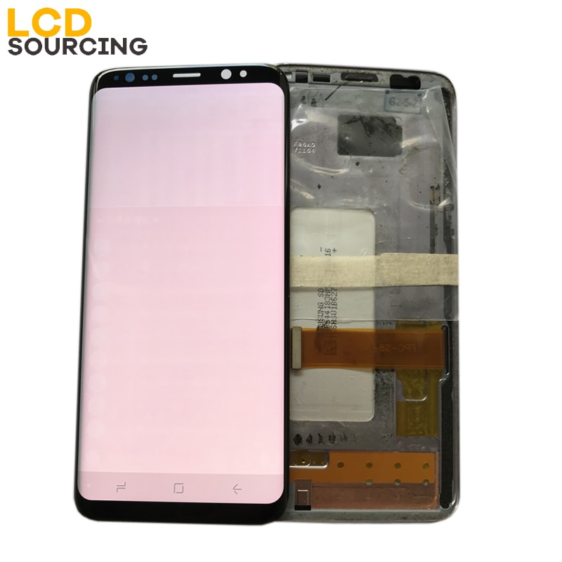 Big Burn-Shadow LCD Display For Samsung S8 G950 G950F G950FD S8 Plus G955 G955F Display Touch Screen Digitizer Assembly Replace enlarge