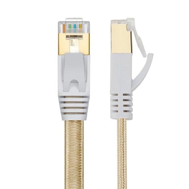 Cable Ethernet de red LAN Cat 7 RJ45, doble blindado y red...