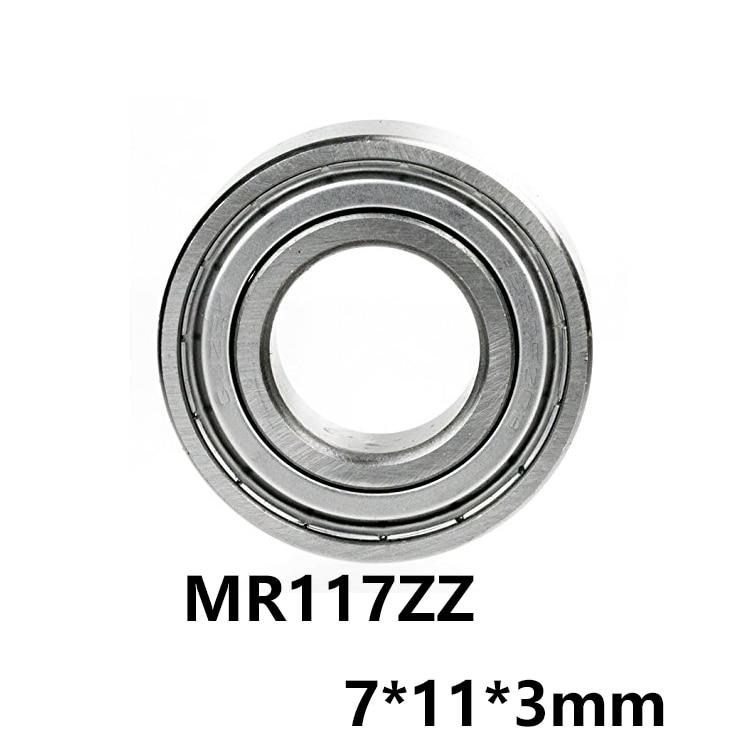 5 teile/los MR117ZZ Lager Rillen Kugellager Miniatur Mini Lager MR117-ZZ 7*11*3mm 7x11x3 52100 Chrom Stahl