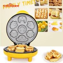 Mini moule à gaufres électrique   Machine à crêpes, Portable mignon dessin animé moule à gâteau antiadhésif outils de cuisson du pain petit déjeuner 220V