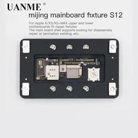 uanme ipx lock plate repair clamp for iphone x xs xs max fixed platform maintenance fixture upper and lower welding of mainboard