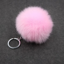 Porte-clés fait main Pom Pom boules pour femmes sac fourrure de lapin porte-clés Chaveiro sleutelcintre Pompon porte-clés Llavero Pompon