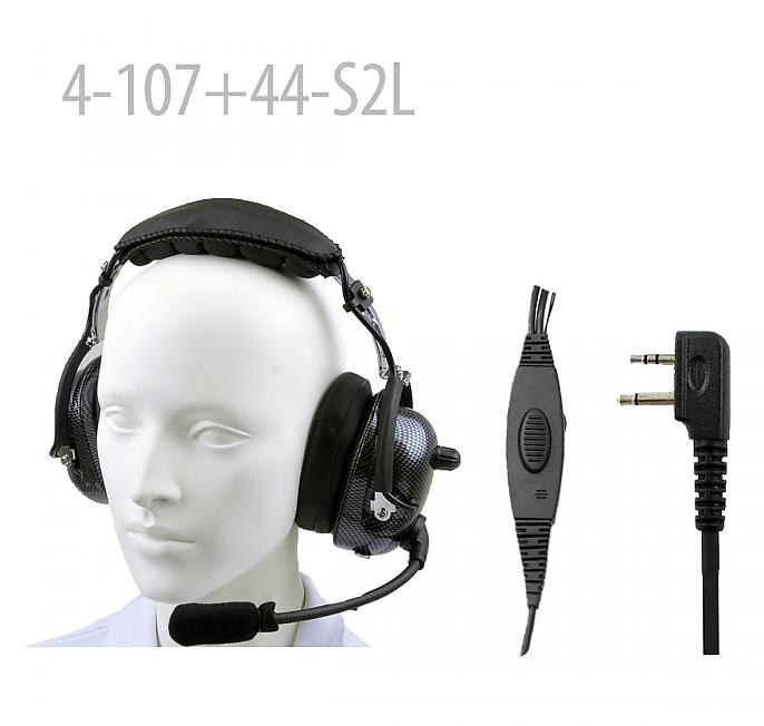 Carbon Fiber Pattern Heavy duty Noise Cancelling Headset for IC- F3GS IC-F4G IC-F4GS IC-F11 IC-F11S IC- F14 IC- F14 S IC-F15