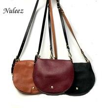 Nuleez genuine leather cross-body women bag saddle bag half-moon vintage China wholesale 2019 new style