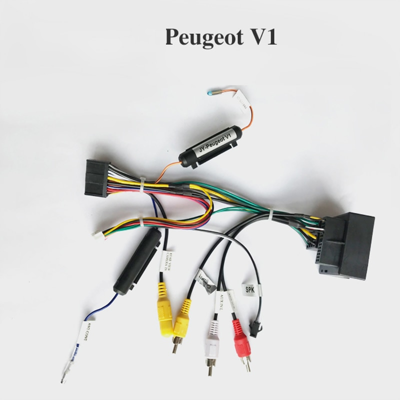Arnés de cableado para Peugeot solo para dispositivo Android de Radio de coche ARKRIGHT