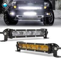 6D 7inch 18W Slim Mini LED Light Bar Single Row Work Lights Bar Offroad Led Work Light Driving Lamp for Truck SUV ATV Boad RZR