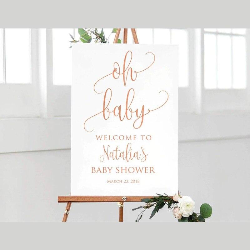 Placa signo de bienvenida Baby Shower signo de bienvenida caligrafía Bienvenido a Baby Shower signo de bienvenida grande