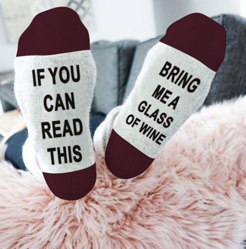2020 חם מכתב גרבי אם אתה יכול לקרוא זה להביא לי זכוכית של יין נשים גברים גרבי מצחיק חידוש בציר רטרו גרבי יוניסקס