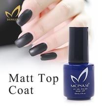 Frosted Top Nail Art Design High Quality UV LED No Sticky Layer Top Coat, Soak off Matt Top Coat UV