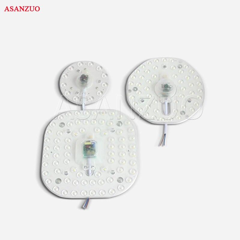 luz de teto redonda embutida ac185 265v led placa de substituicao smd2835 modulo