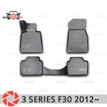 Tapis de sol pour BMW 3 séries F30 2012 ~ 2   Tapis antidérapants, protection contre la saleté en polyuréthane, accessoires de décoration intérieure de voiture