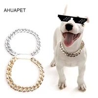 snake chain slip lead leash pinch collar for dogs martingale gold plated necklace dog collar for big dog traction rope plastic