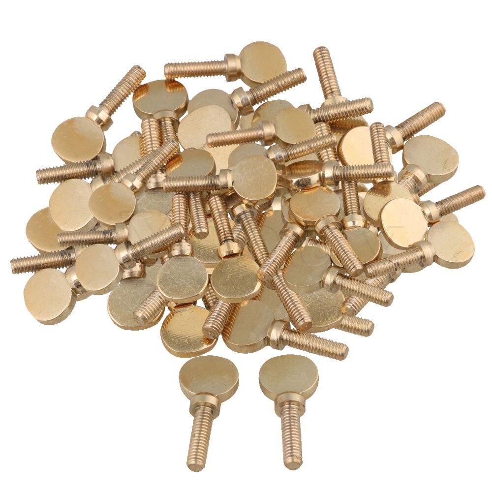 Yibuy 50 pcs Soprano Alto ténor Saxophone clarinette vis de cou serrant doré