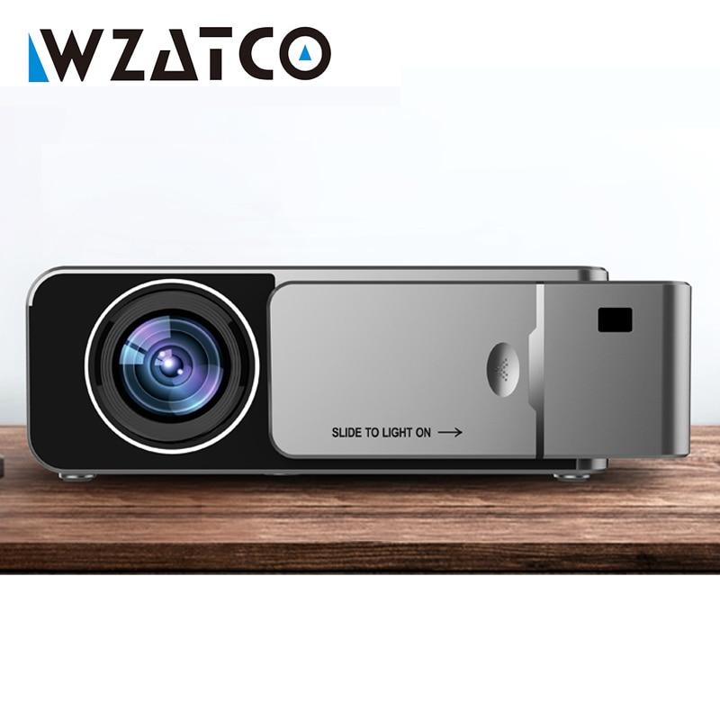 WZATCO-Proyector LED T6 HD, 3000 lúmenes, Android 10,0, opción portátil, HD I,...