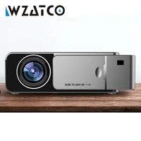 WZATCO     projecteur de cinema pour Home cinema  modele T6 HD 3000Lumen  Android 10 0  prise en charge USB  4K  1080p