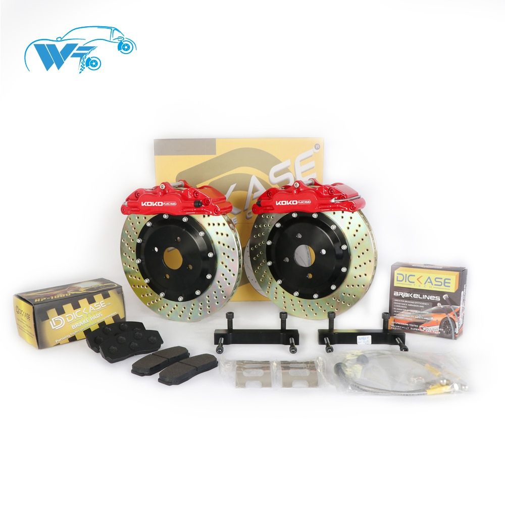 KOKO RACING WT5200 whole set brake kit caliper for rear wheel 330mm disc hand brake support for AUDI A4 B7 EC8 Audi A4 B7 EC8