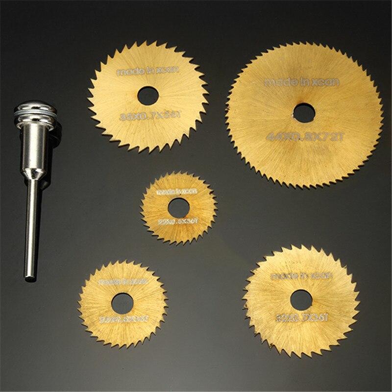 DANIU New SW-B2  6pcs / set HSS Circular Saw Blades Set Titanium Coated Saw Blades for Dremel Rotary Tools