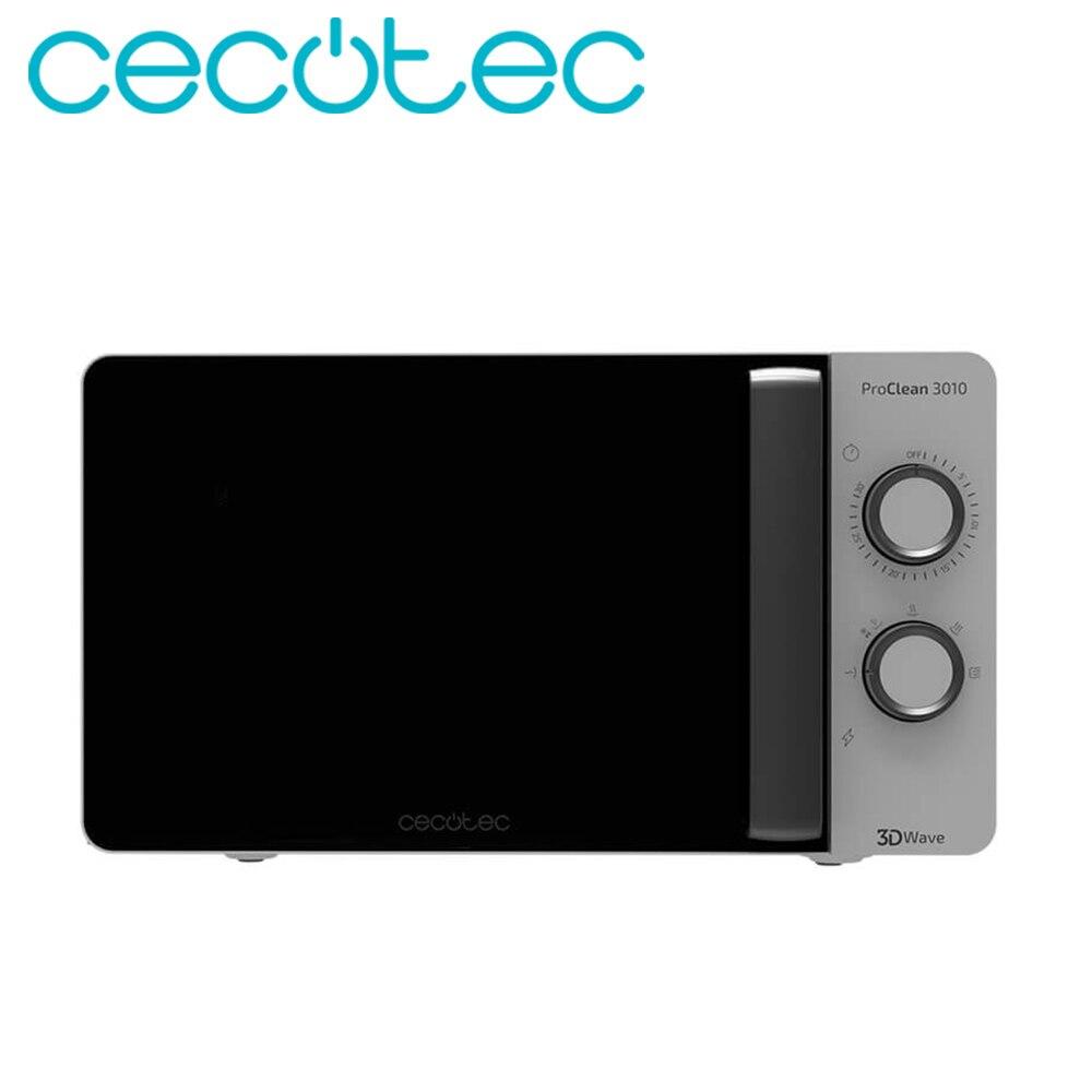 Cecotec Microondas ProClean 3010 Capacidad de 20 Litros Potente 600W Tecnología 3DWave Temporizador Diseño Elegante Calentar Eficiente Fácil de Usa y Limpiar