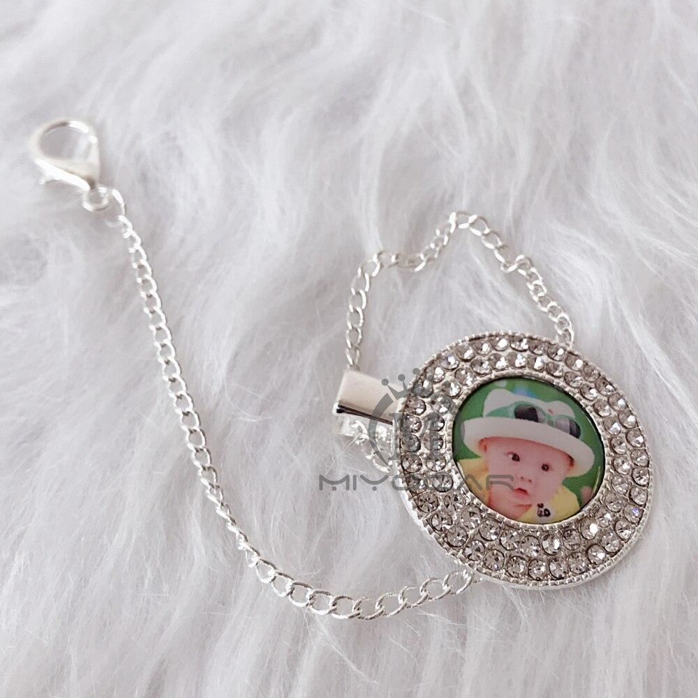 MIYOCAR cualquier foto de nombre puede hacer chupete clip chupete titular dummy clip diseño único para regalo de bebé